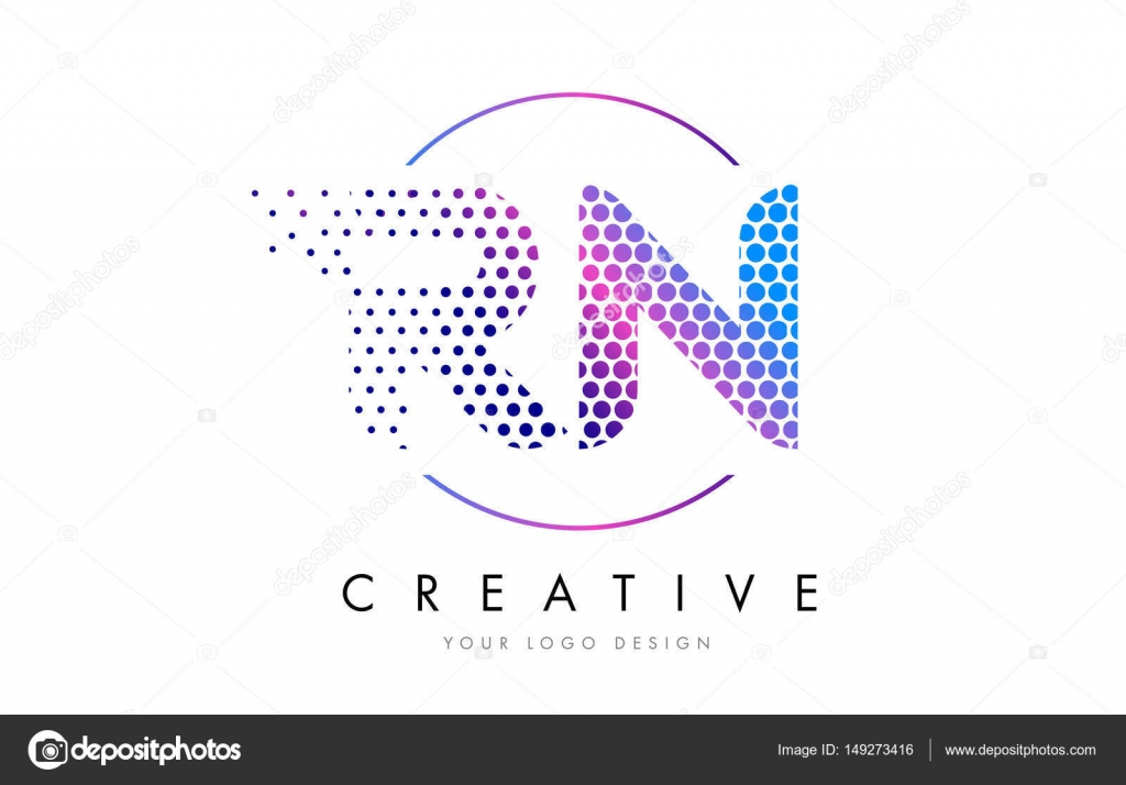 Rn r n pink magenta dotted bubble letter logo design vector stock rn r n pink magenta dotted bubble letter logo design vector stock vector altavistaventures Images