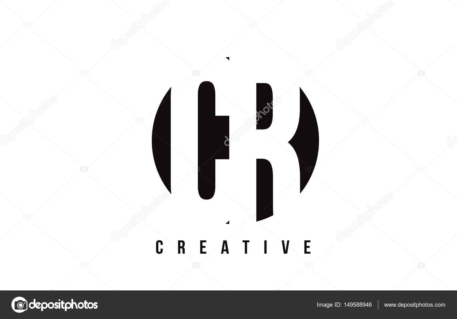 Diseño de logotipo CR C R White carta con fondo de círculo — Archivo ...