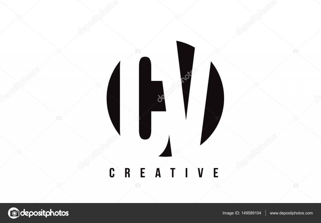 cr u00e9ation de logo de lettre cv c v blanc avec cercle fond  u2014 image vectorielle twindesigner