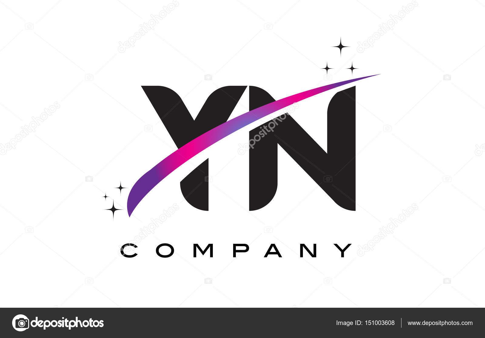 �yf�y��y�'��(y�n_YnYNschwarzenBuchstabenLogo-DesignmitlilaMagentaSwoosh—Stockvektor