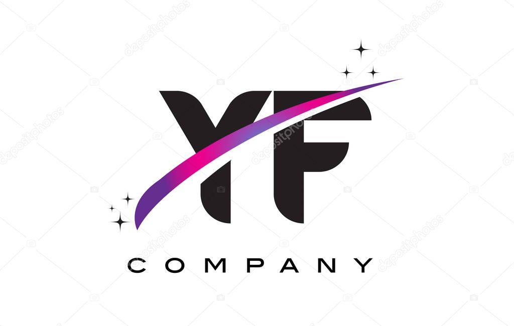 �yf�y�_CréationdeLogoYFYFlettrenoiravecvioletMagentaSwoosh—Imagevectorielle