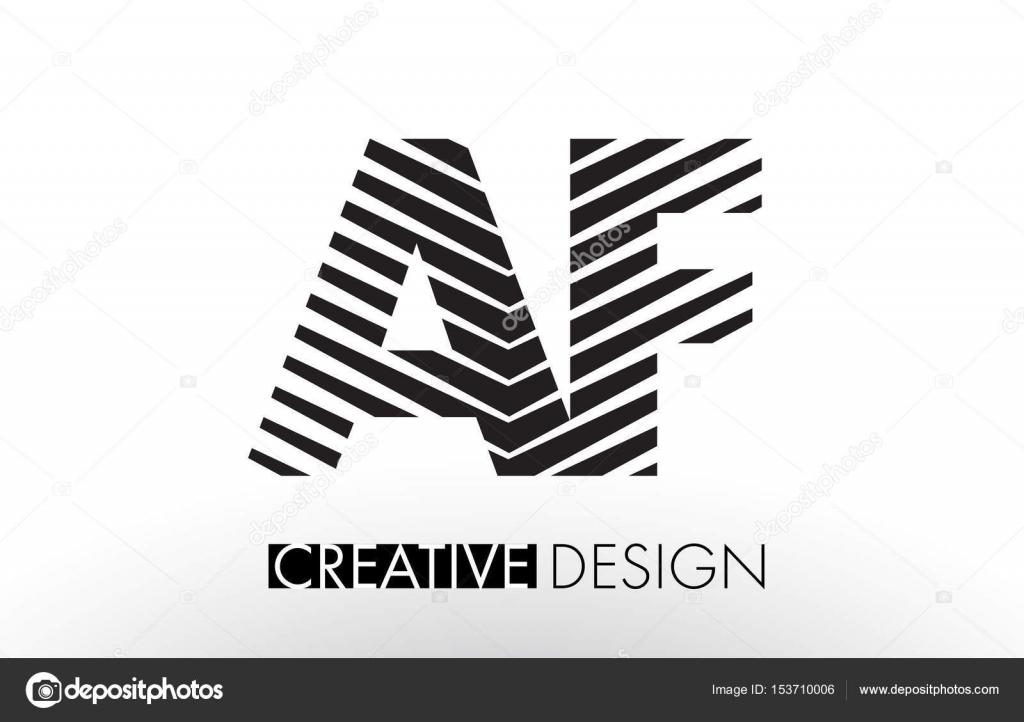 db471e513d5 AF un F líneas de diseño de carta con cebra elegante creativa– ilustración  de stock