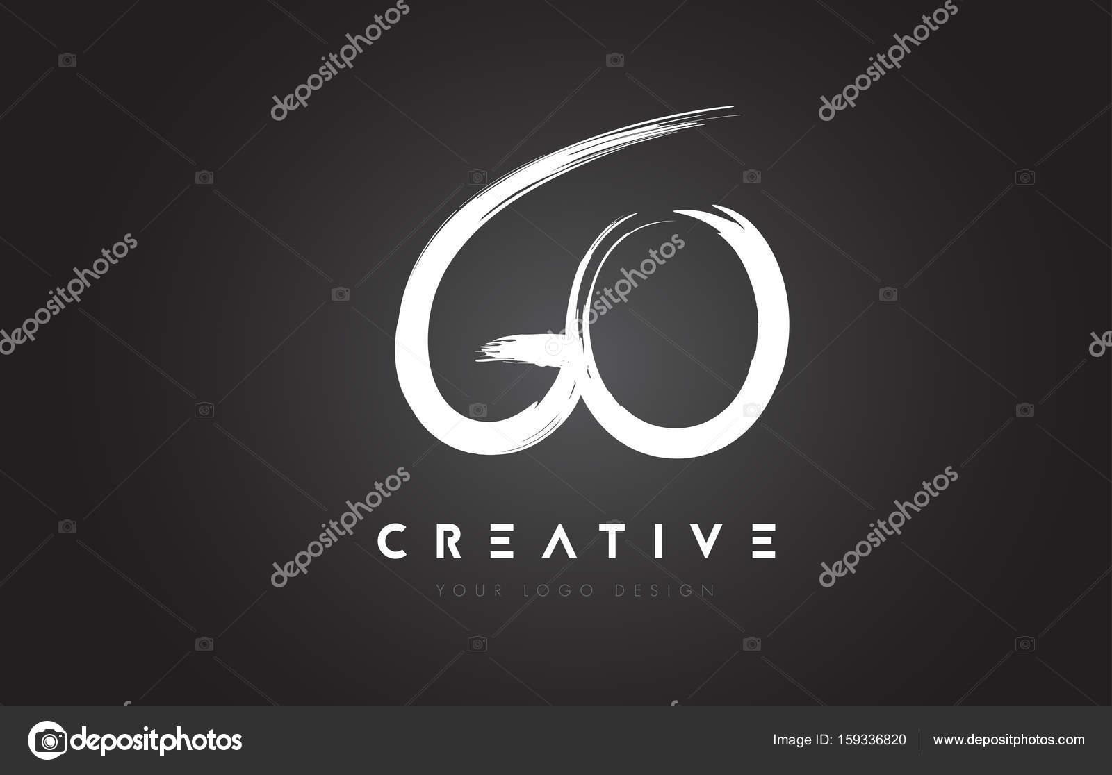 Allez Brosse Lettre Logo Design Des Lettres Manuscrites