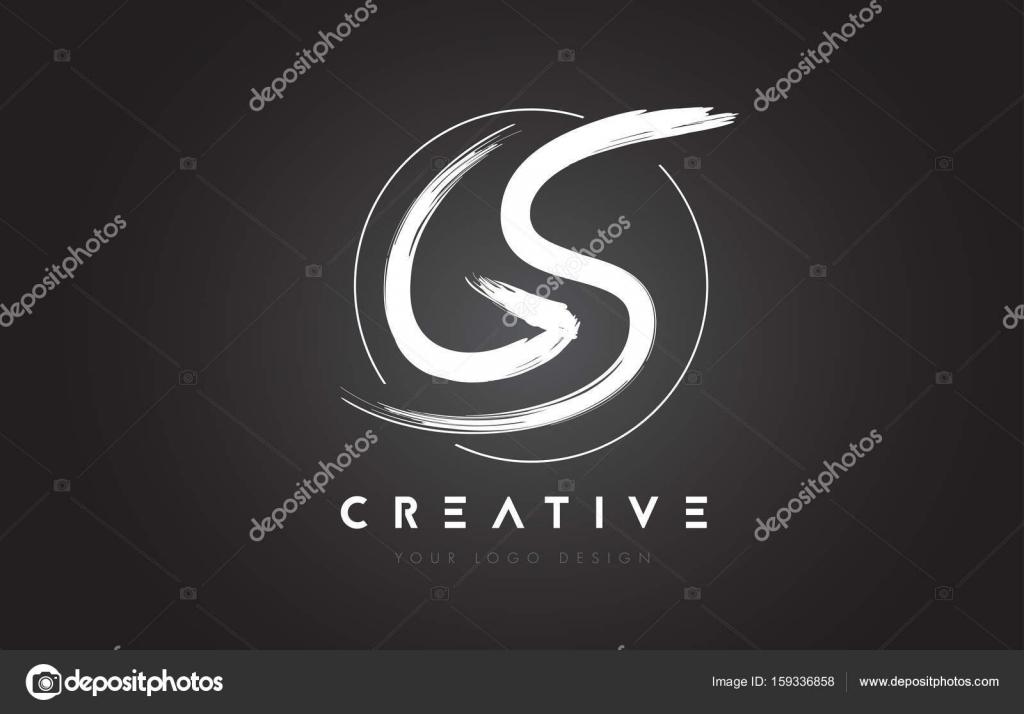 Gs brush letter logo design artistic handwritten letters for Gs decorating
