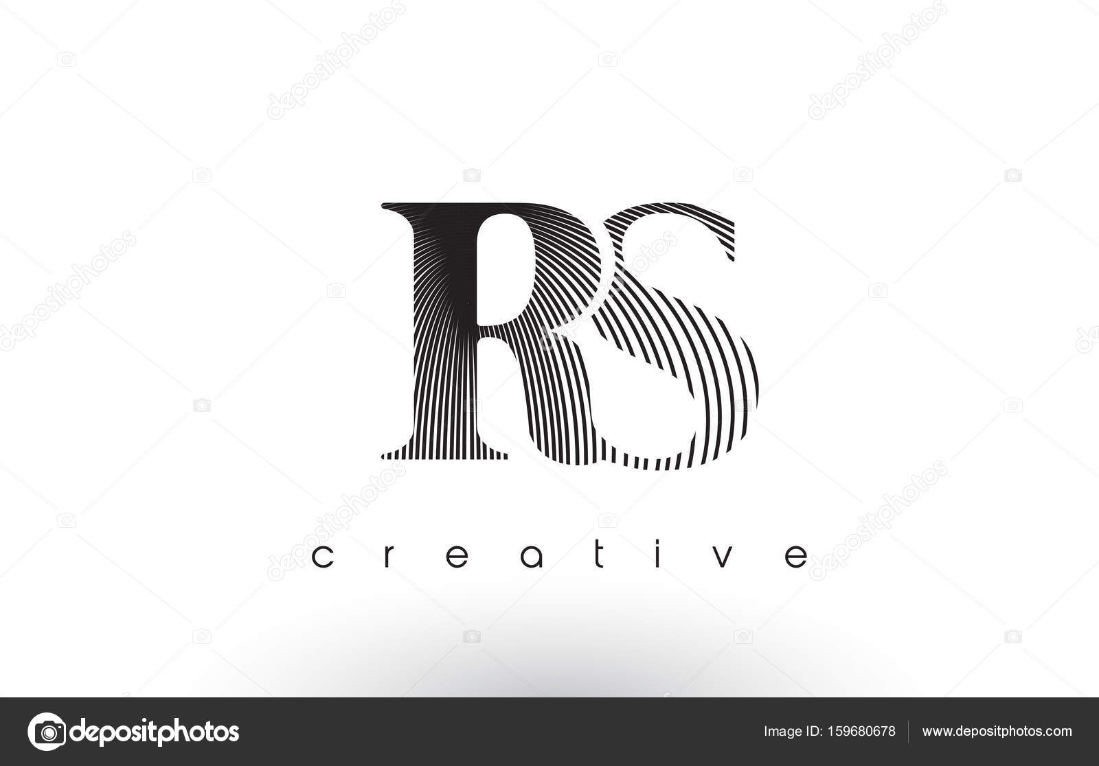 Rs logo design with multiple lines and black and white colors rs logo design with multiple lines and black and white colors stock vector buycottarizona Image collections