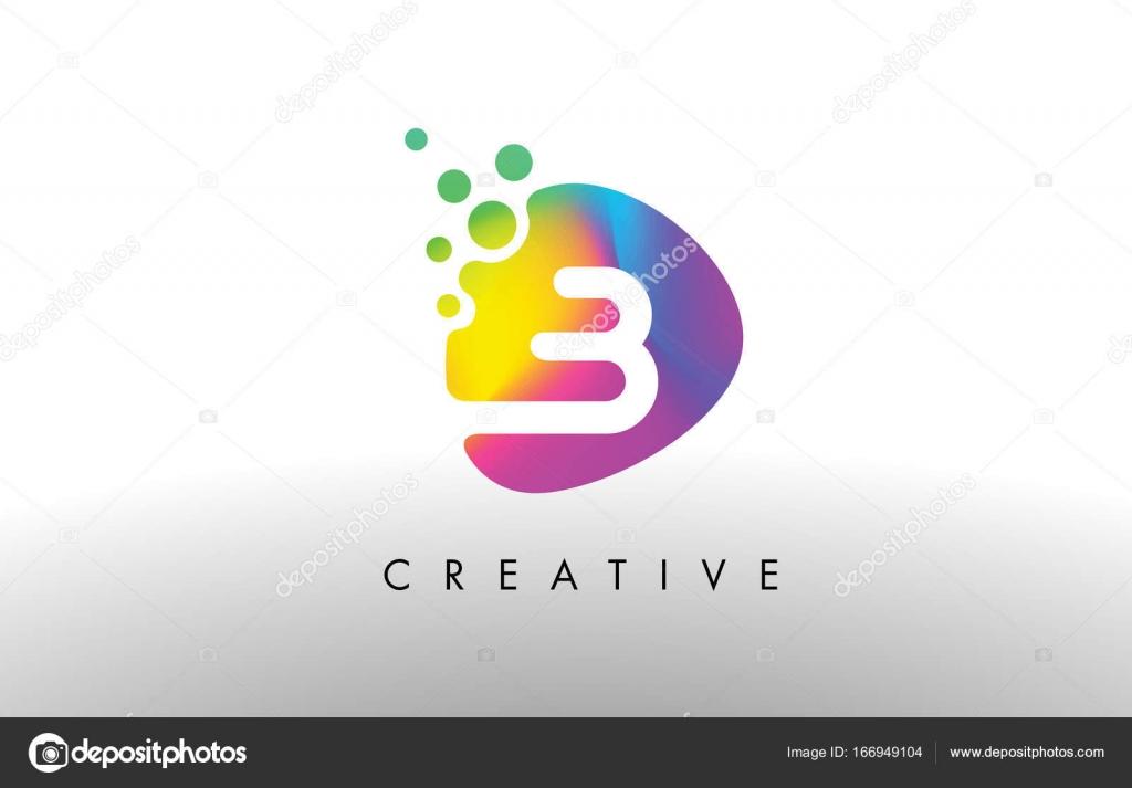 Bunte Logo Design Form B Lila Abstrakte Form Brief Symbol