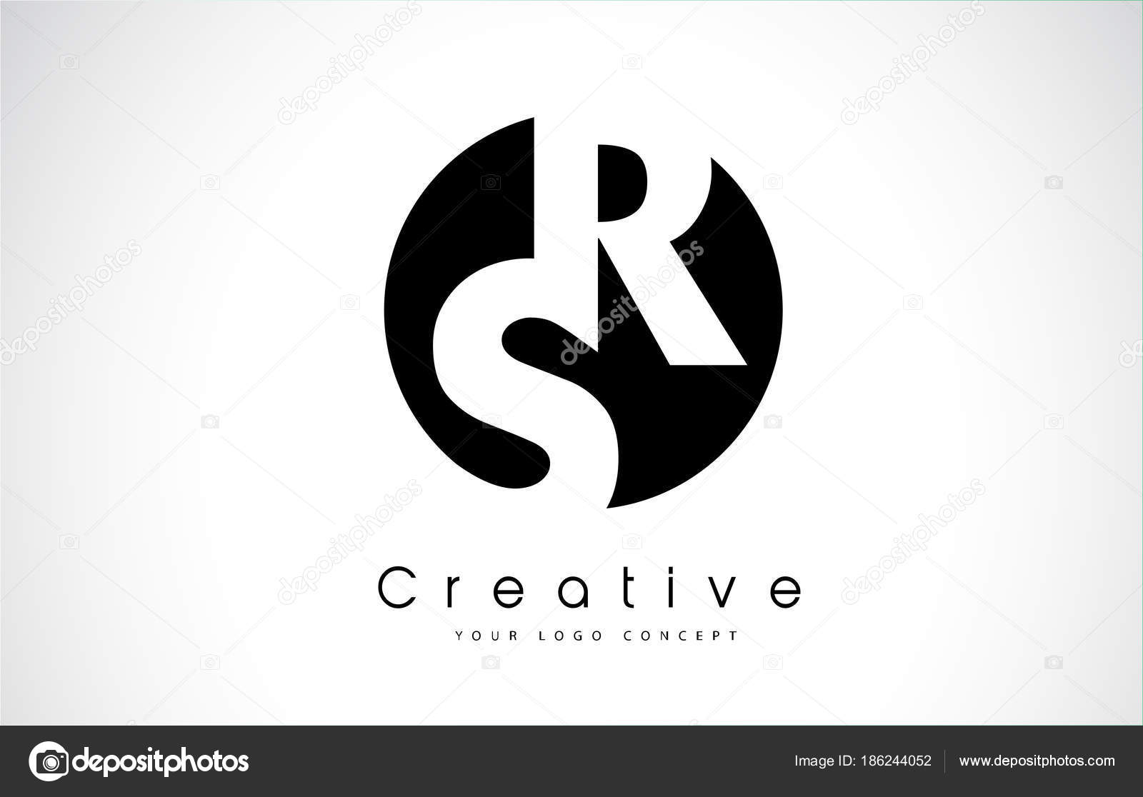Rs letter logo design inside a black circle stock vector rs letter logo design inside a black circle stock vector buycottarizona Image collections