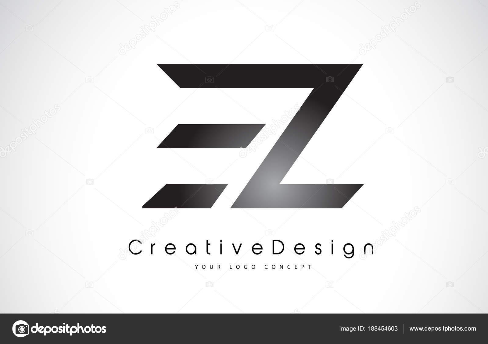 ez e z letter logo design creative icon modern letters vector l
