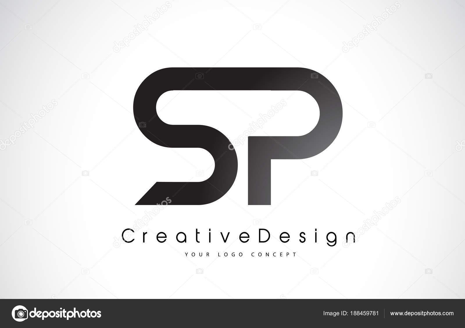 Sp s p brief logo design kreative symbol modernen buchstaben