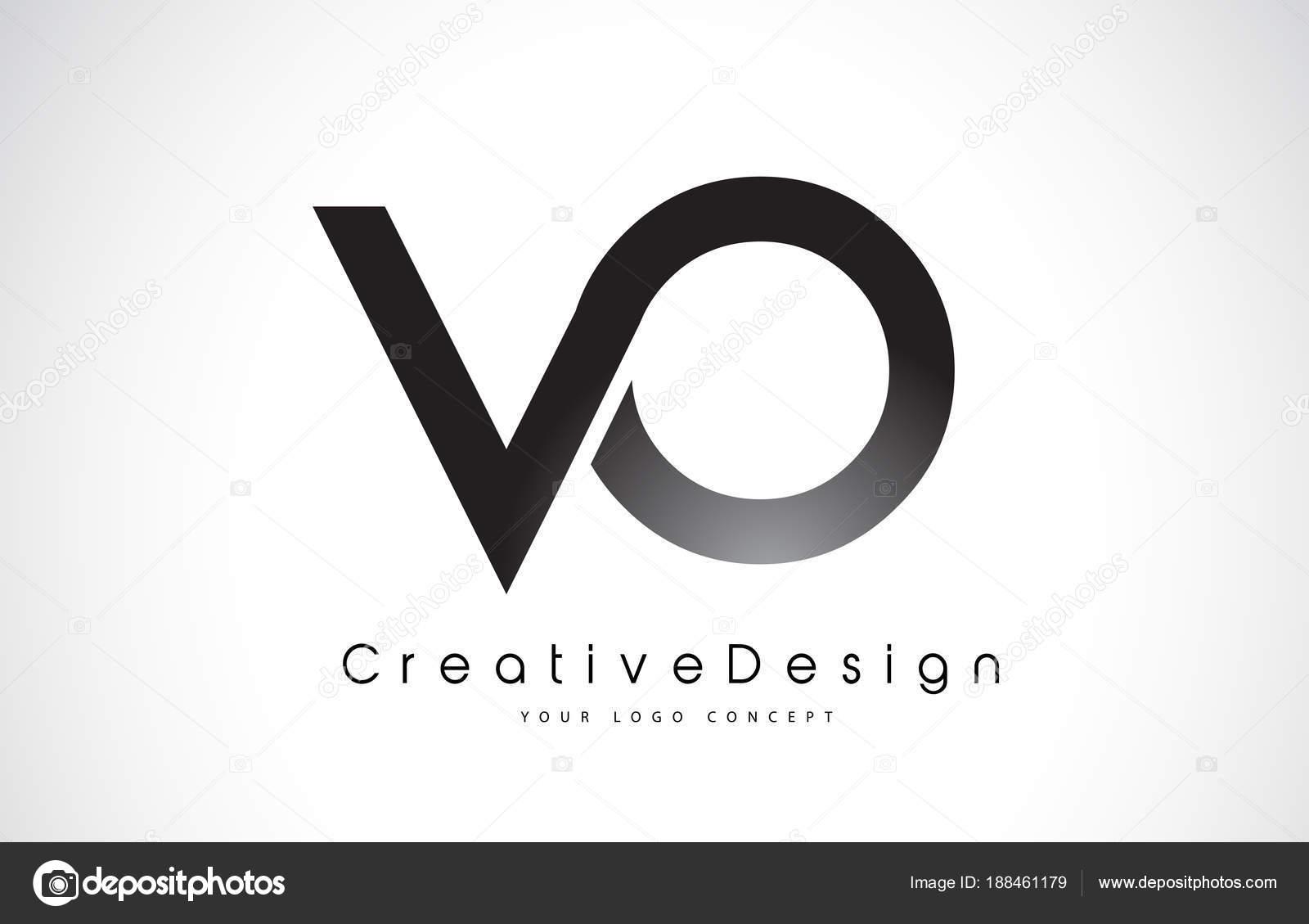 diseño de logotipo vo v o carta vector de cartas moderno icono