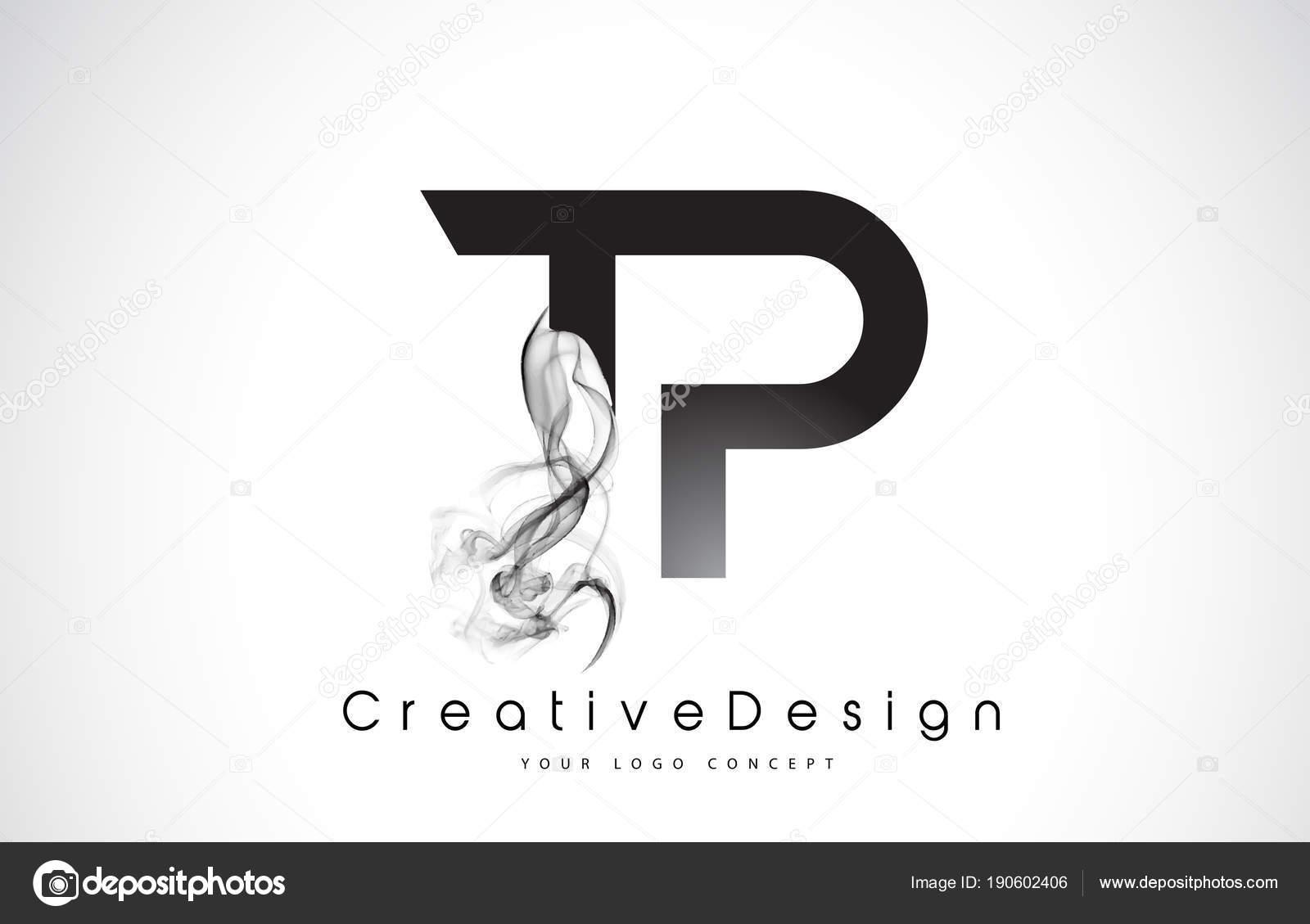 TP Letter Logo Design with Bla...