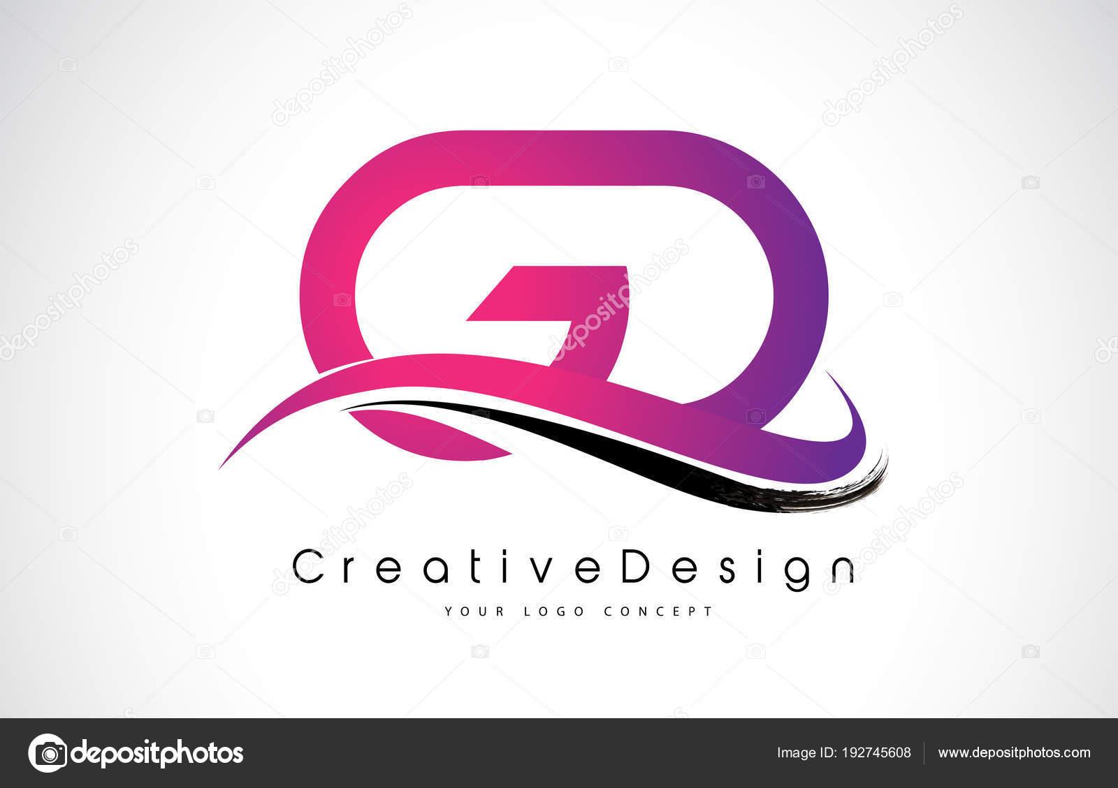 GD G D Letter Logo Design. Creative Icon Modern Letters Vector L ...
