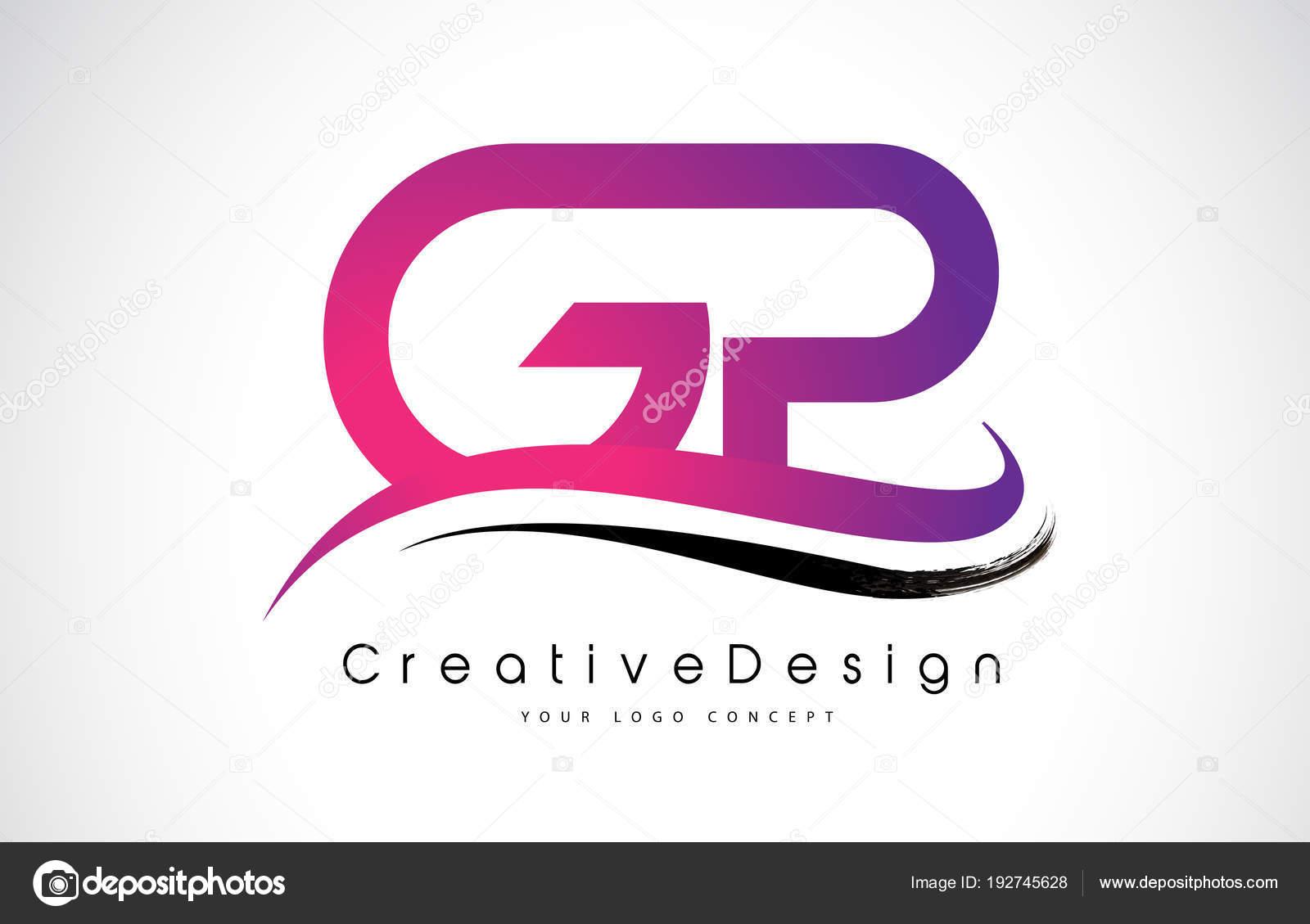 GP G P Letter Logo Design. Creative Icon Modern Letters Vector L ...