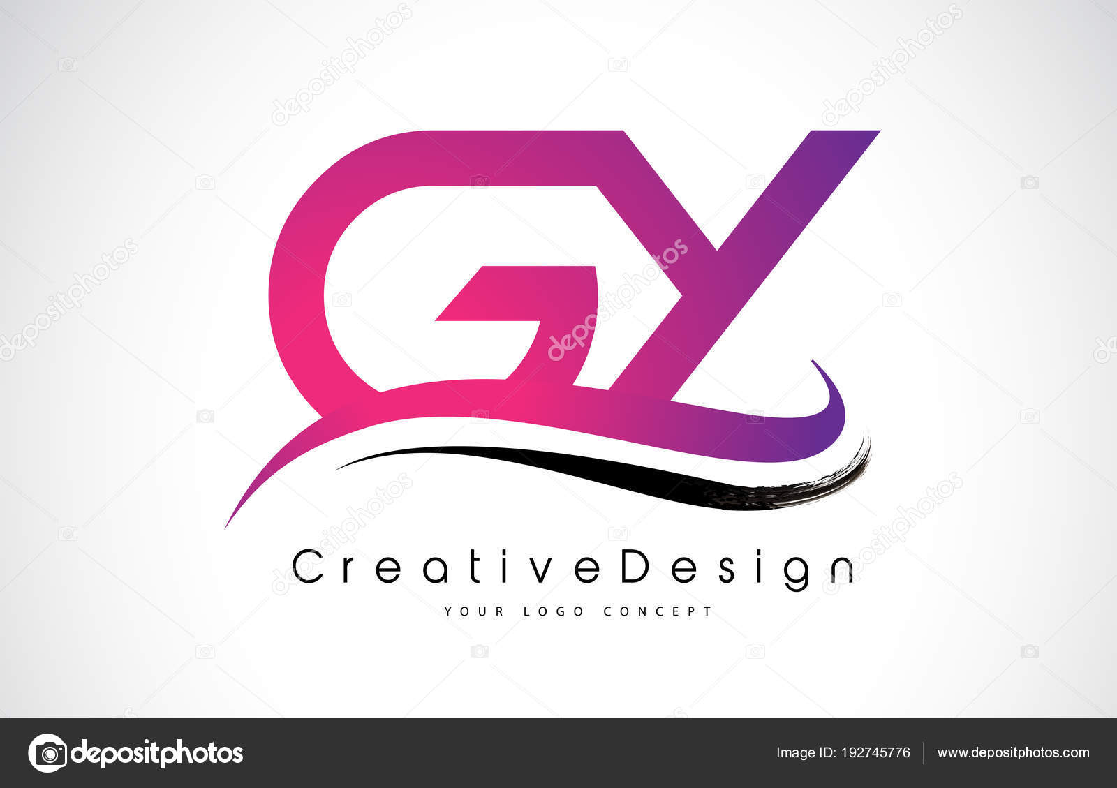 GY G Y Letter Logo Design. Creative Icon Modern Letters Vector L ...