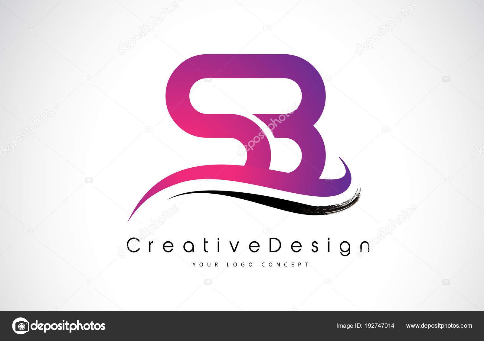 sb s b letter logo design creative icon modern letters vector l