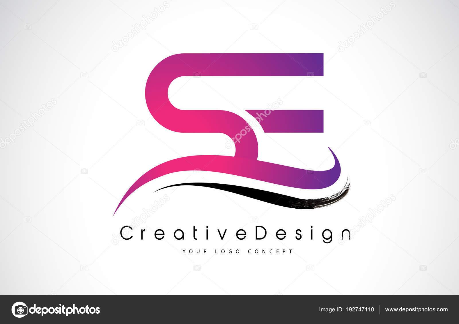 Se Letter Logo Design Se S E Letter Logo Design Creative