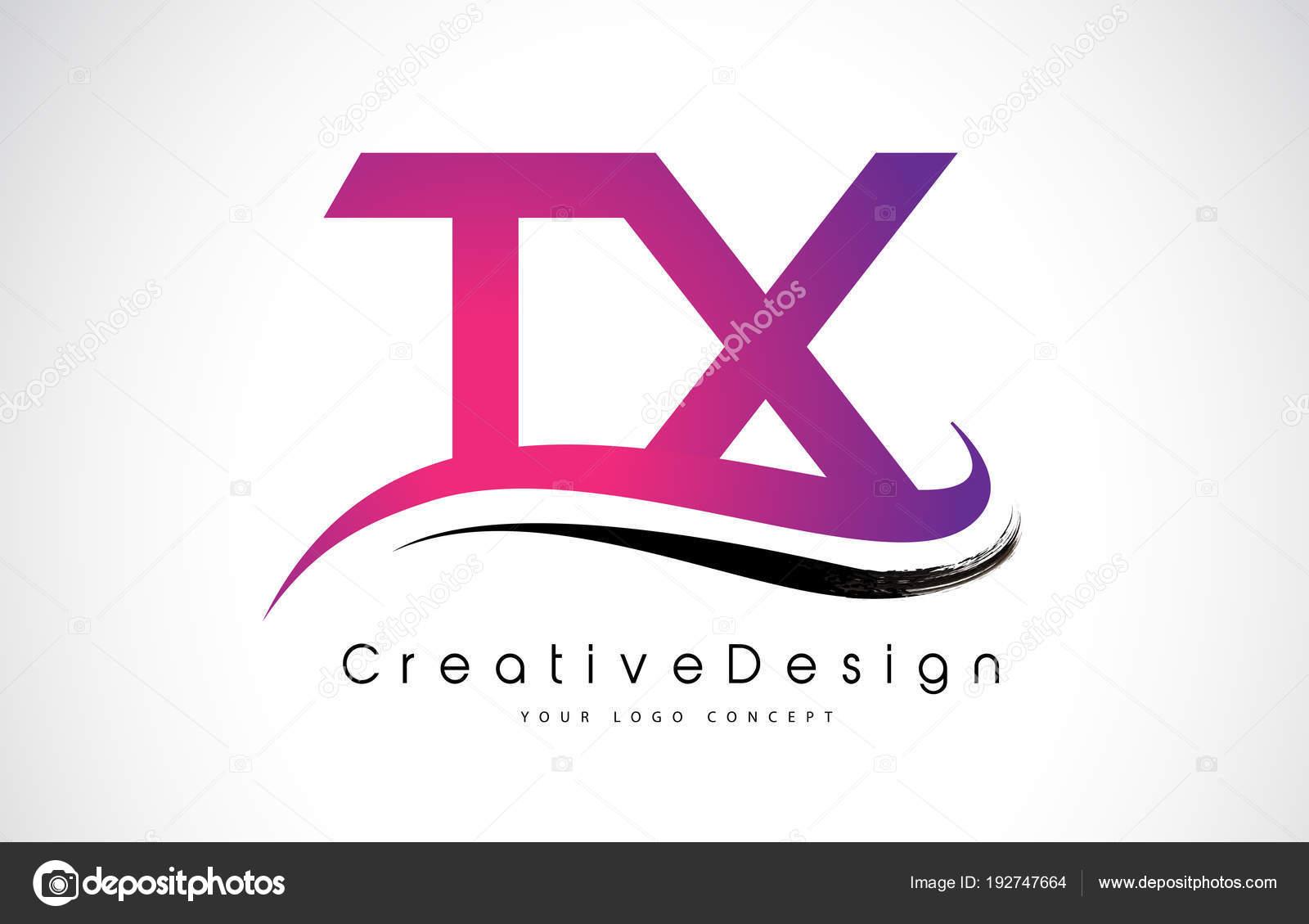 TX T X Letter Logo Design. Creative Icon Modern Letters Vector L ...