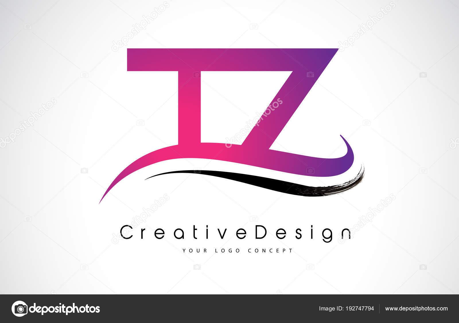 Tz T Z Letter Logo Design Creative Icon Modern Letters Vector L
