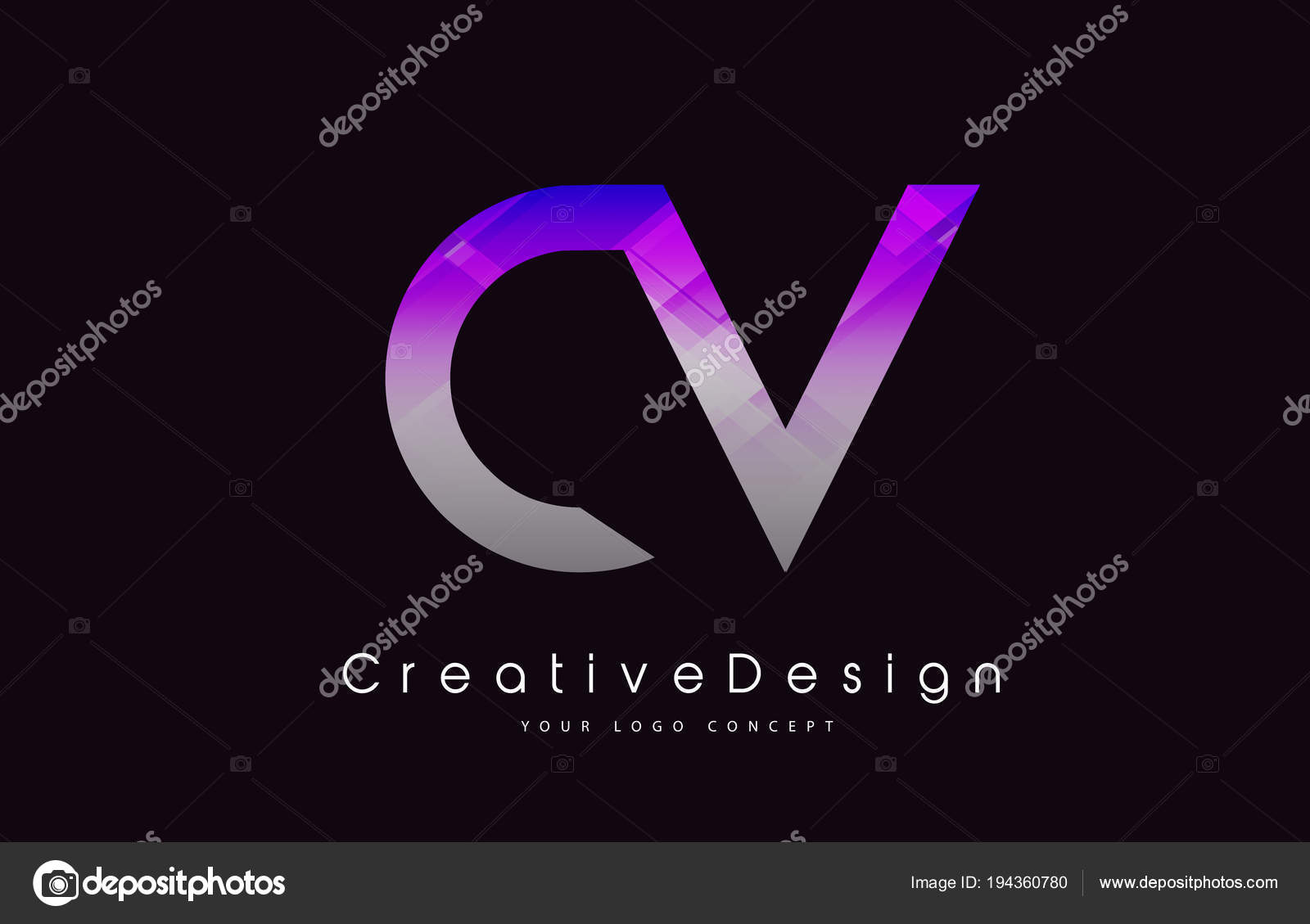 Lebenslauf schreiben-Logo-Design. Lila Textur kreative Symbol ...
