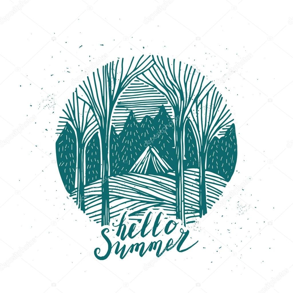Hand drawn concept of Summer