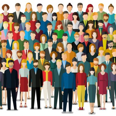 Crowd of abstract people.