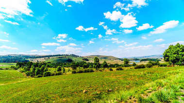 Countryside at the northern end of Highway R532 , the famous Panorama Route, in Limpopo and Mpumalanga Provinces in northern South Africa