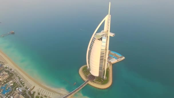 Dubai United Arab Emirates August 17 2017 Aerial Burj Al Arab The Most Famous Hotel In The World Sunrise 4k Stock Video C Dmytro Drabyk Gmail Com 166480014