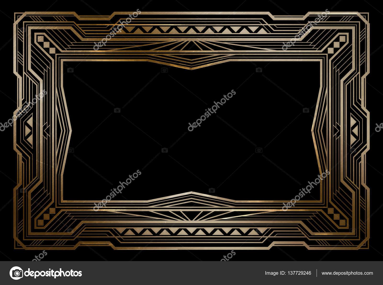 cadre de rétro laiton rectangulaire, style art déco des années 1920