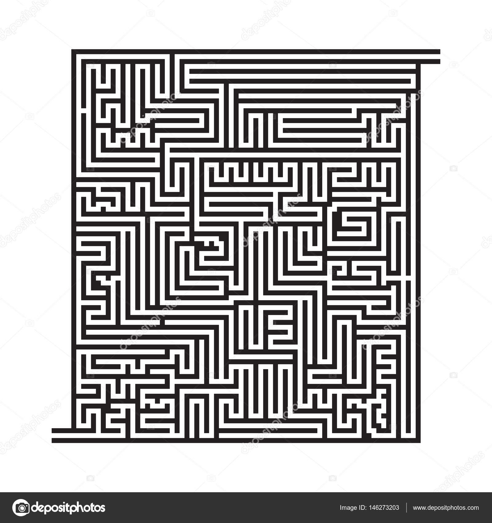 Quadratische Labyrinth Spiel Skizze, high-Level. Malvorlagen ...