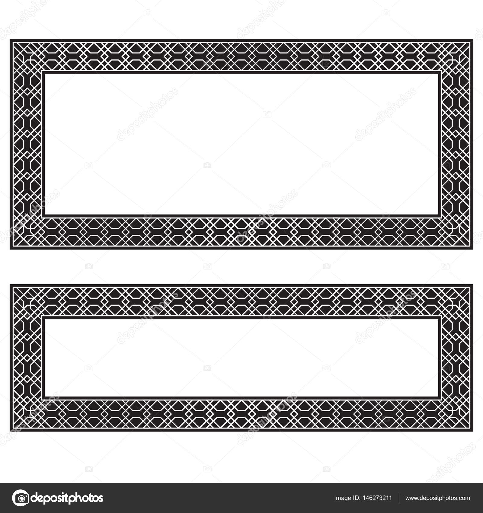 Rectangular black and white frames, geometric pattern. Different ...