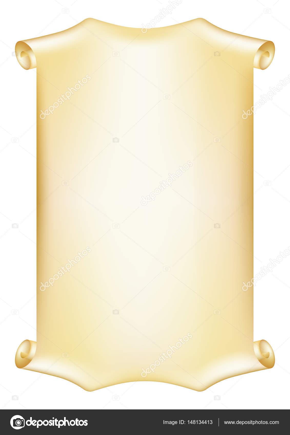 Scorrimento Pezzo Di Pergamena Cornice Decorativa Per Diploma