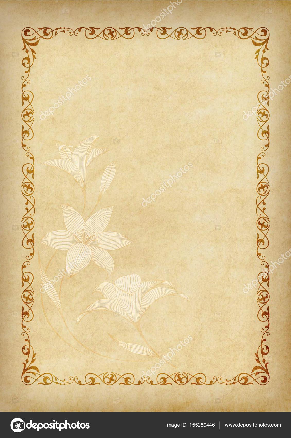Vorlage, Hintergrund mit einem Rahmen und dekoratives Element am ...
