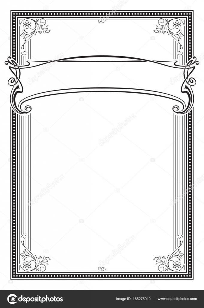 Dekorative schwarze rechteckige Rahmen und Banner. Vorlage für ...