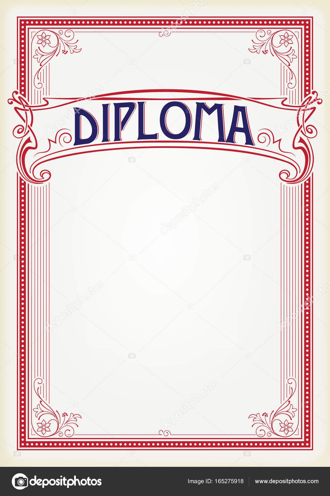 Dekorative rechteckige rote Rahmen und Banner. Vorlage für Diplom ...