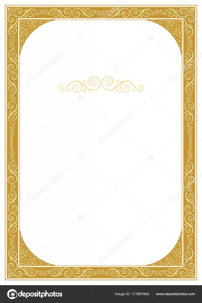 Marco adornado para la decoración de la página, diploma, tarjeta ...