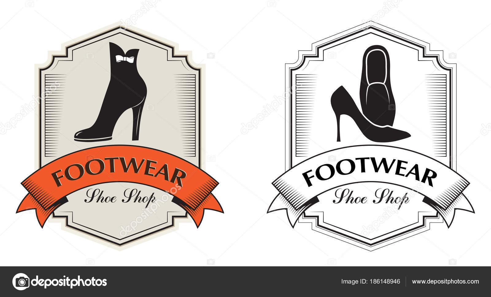 f0b598fe1 Placas Decorativas Loja Sapatos Loja Sapatos Etiquetas Para Calçados —  Vetor de Stock