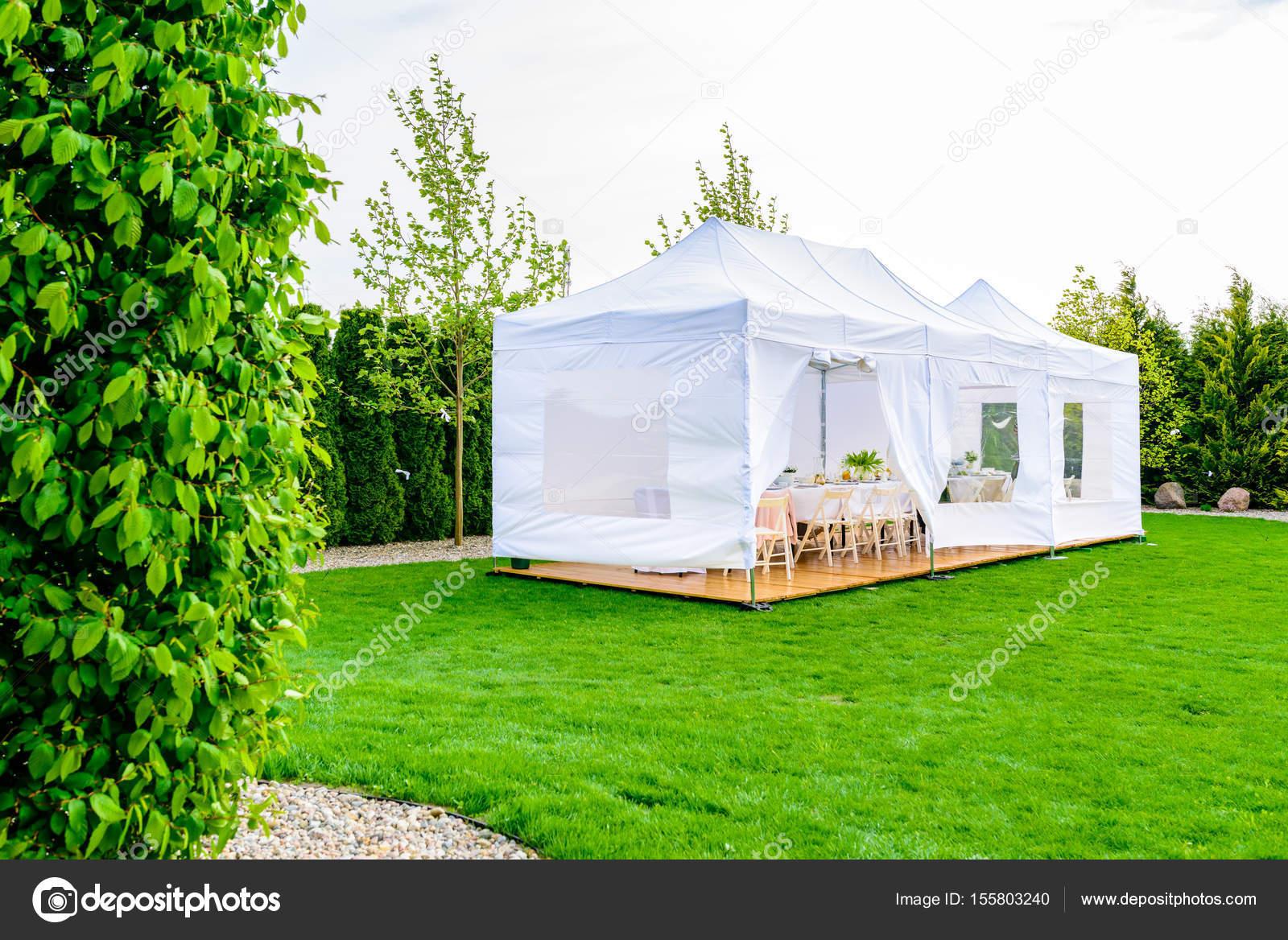 Tente de fête - blanc Garden-Party ou tente de mariage ...