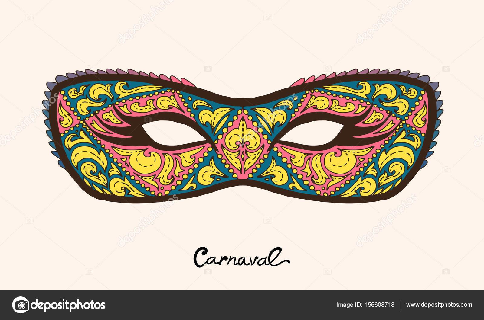 Coloridas máscaras de la mascarada aislados en blanco — Vector de ...