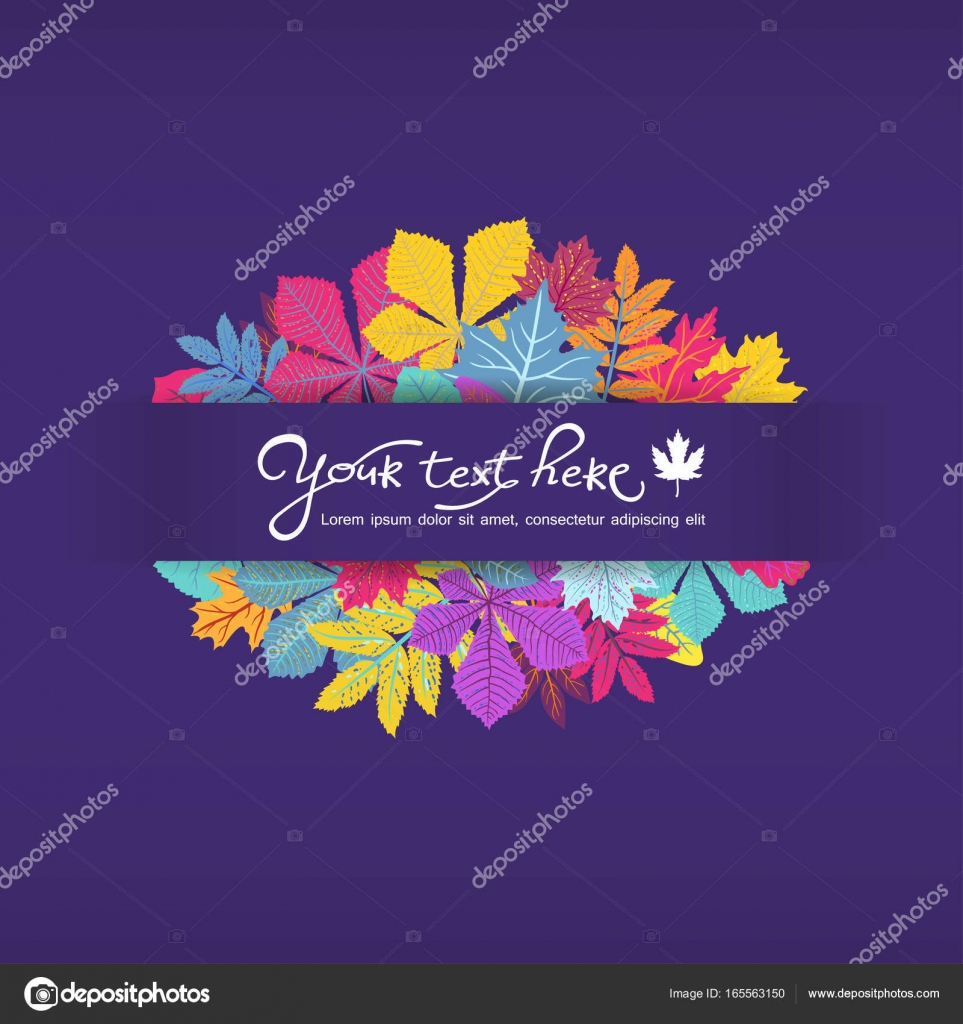 Bright Frame With Leaves And Place For Your Text ECO Autumn Nature Wallpaper BIO