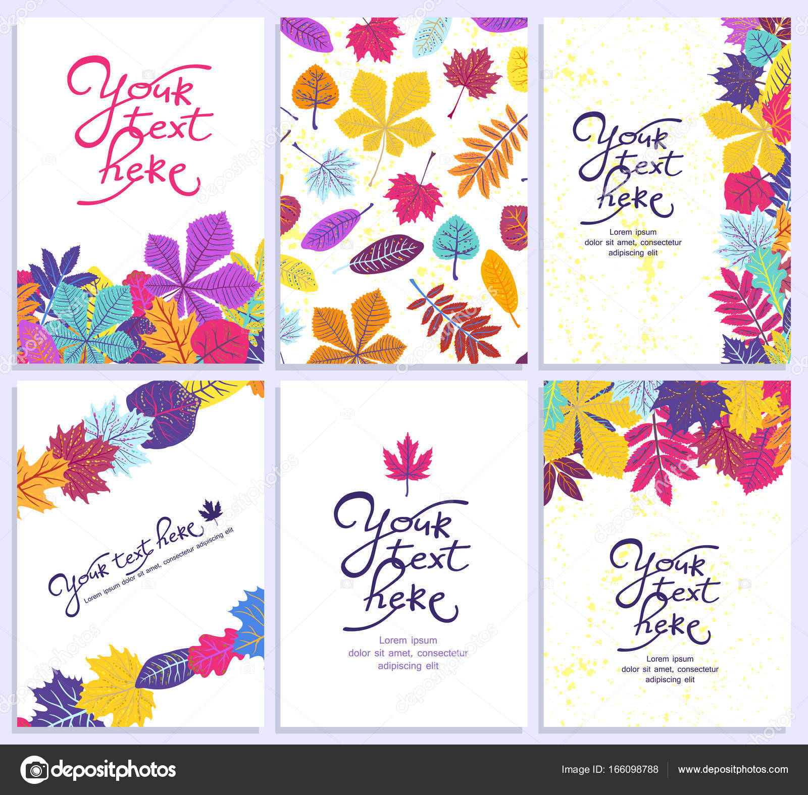 Bright Vertical Card With Leaflets And Place For Your Text ECO Autumn Nature Wallpaper BIO Design Vector By Jkazanceva