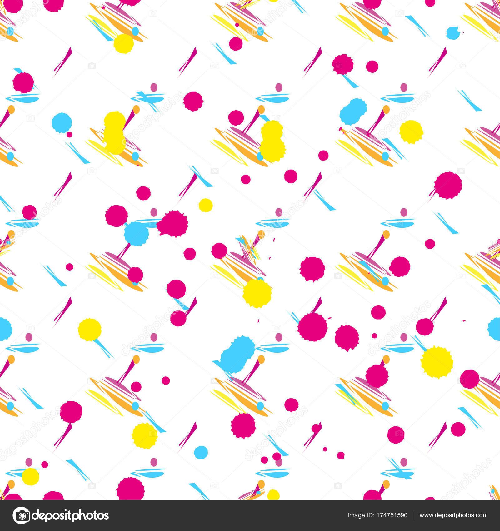 Patrón abstracto vector sin costuras para niñas, niños, ropa. Fondo ...