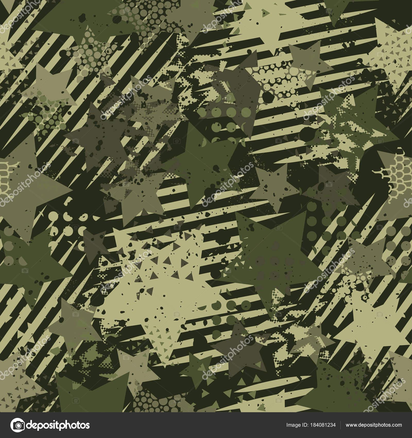 Resumen camuflaje patrones sin fisuras textura militar repite ropa ...