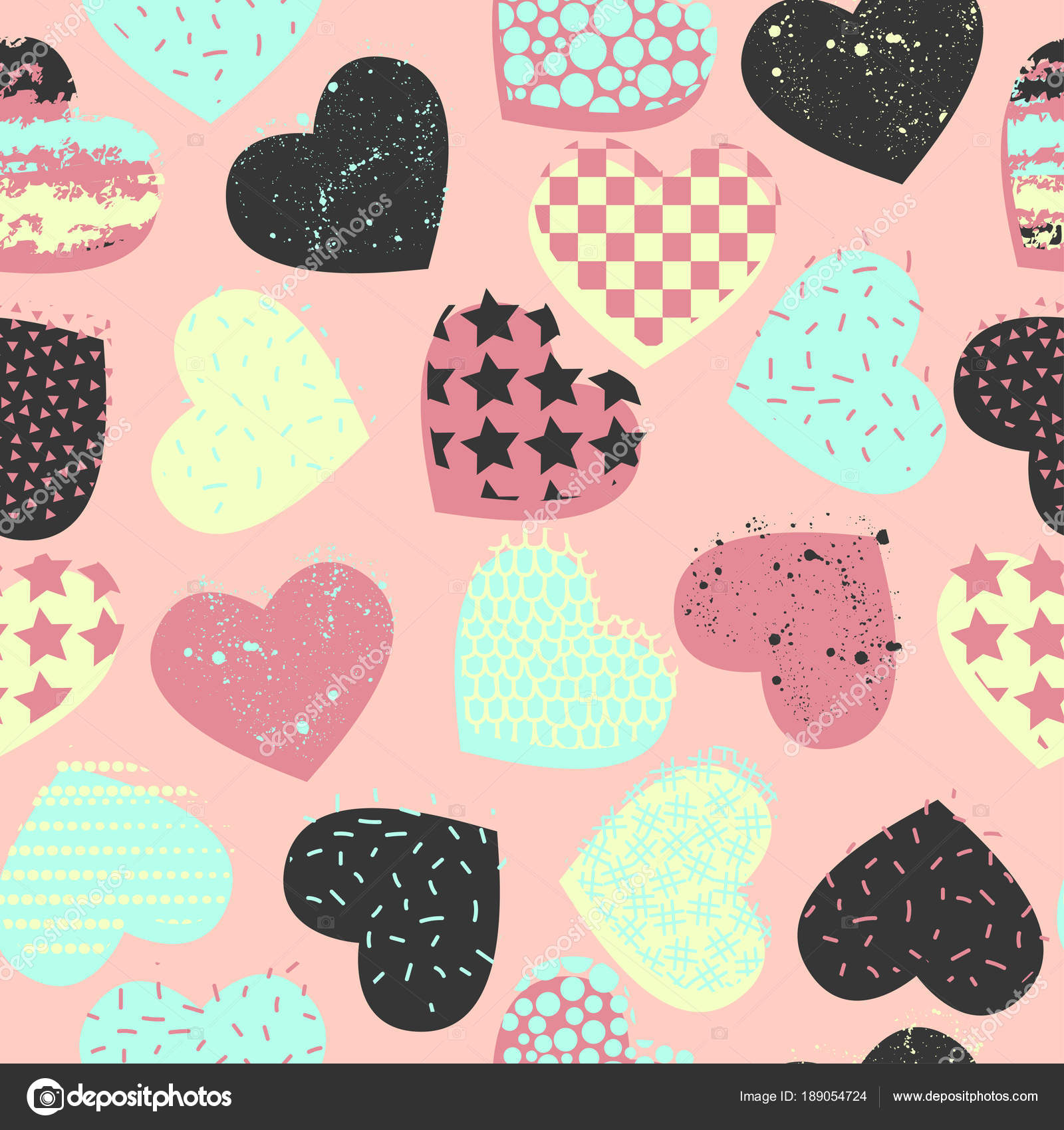 Abstract seamless vector pattern for girls boys clothes creative abstract seamless vector pattern for girls boys clothes creative background with heart funny wallpaper for textile and fabric fashion style voltagebd Choice Image