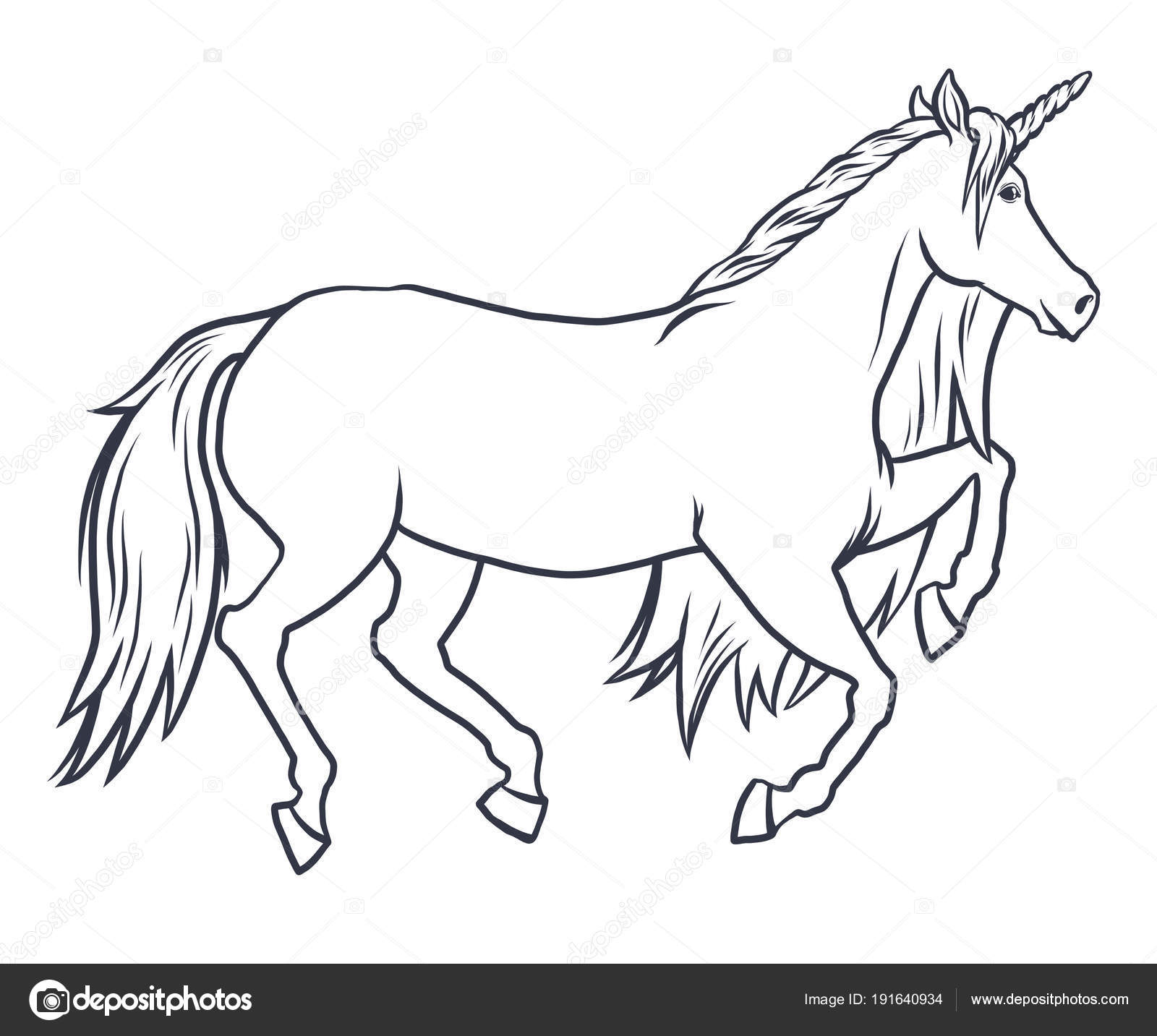 Illustrazione Di Magico Unicorno Carino Animale Di Fantasia Del