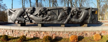 Gomel, Belarus - January 5, 2020: Monument to the soldiers of the heroes of the Great Patriotic War