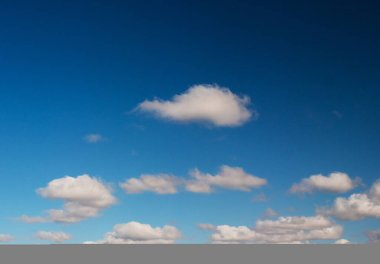 clouds swiftly swim through the blue sky of the day 2020