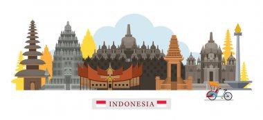 Indonesia Architecture Landmarks Skyline