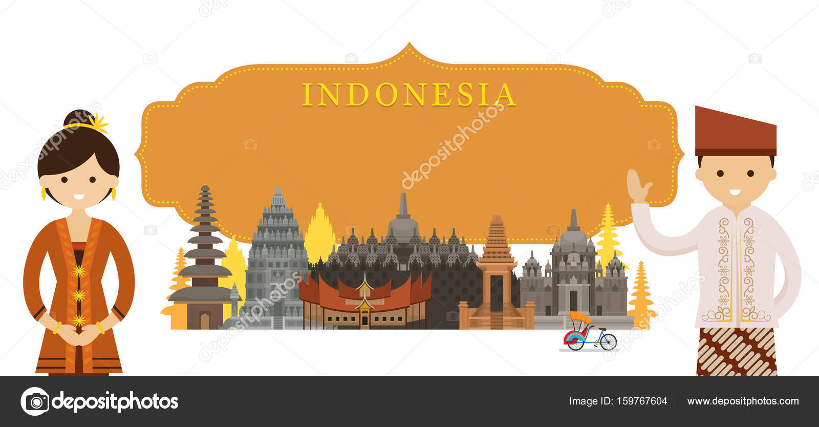 Culture Travel and Tourist Attraction u2014 Vector