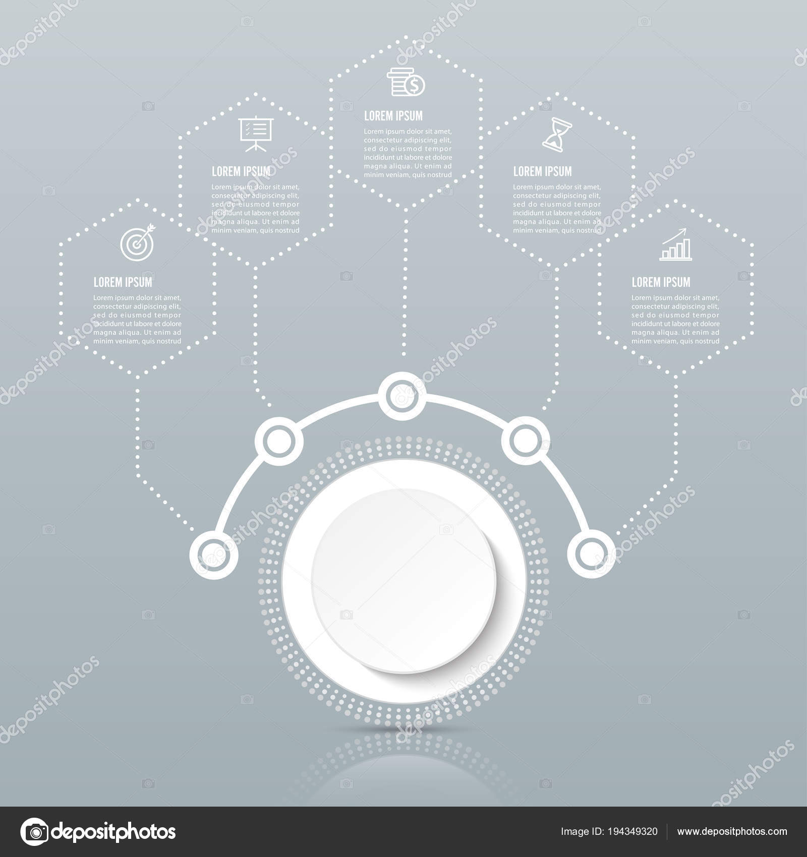 Vector infographic template paper label integrated circles business vector infographic template paper label integrated circles business concept options stock vector fbccfo Choice Image
