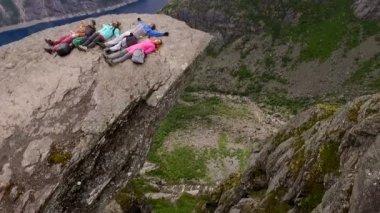 Trolltunga. Norway.Aerial survey